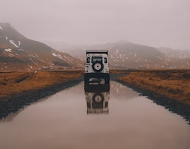 Feelgood image - Waterlogged road